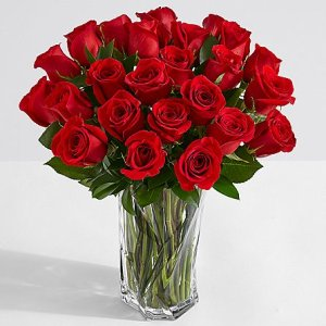 画像1: Two Dozen Long Stemmed Red Roses