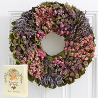 "18"" Herbal Sentiments Wreath with Keepsake Book"