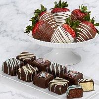 9 Birthday Cheesecake Bites & Half Dozen Swizzled Strawberries