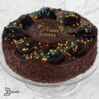 Happy Birthday Chocolate Mousse Torte with Belgian Chocolate Plaque