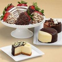 Dipped Cheesecake Trio & Half Dozen Fancy Strawberries