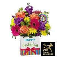 Birthday Brights Bouquet(Deluxe)