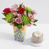 Birthday Frills with Petite Birthday Cake