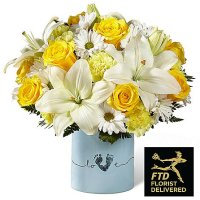 Tiny Miracle New Baby Boy Bouquet ( Ultimate )