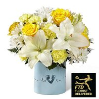 Tiny Miracle New Baby Boy Bouquet ( Deluxe )