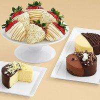 Dipped Cheesecake Trio & Half Dozen Champagne Strawberries