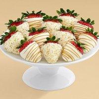 Full Dozen Gourmet Dipped Swizzled Strawberries