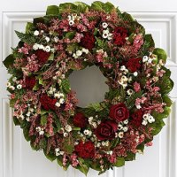 "18"" Rose Garden Wreath - Preserved"