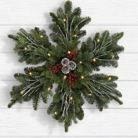 Frosted Fir Wreath with Lights